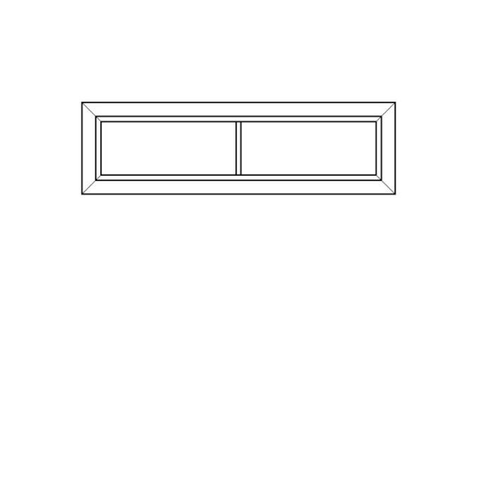 Полка настенная «Оливия» 1D застекленная