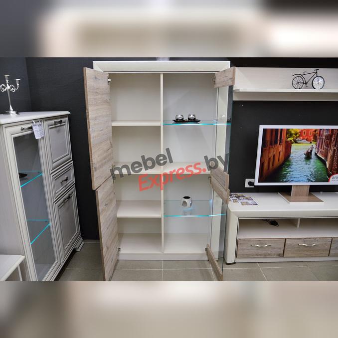 Шкаф-витрина «Оливия» 2V2D