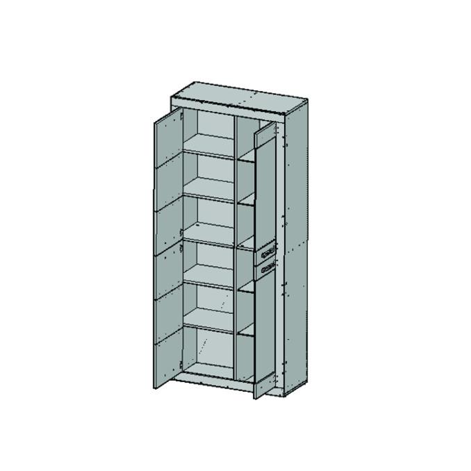 Шкаф-витрина «Оскар» 2V2D комбинированный для гостиной - светлый