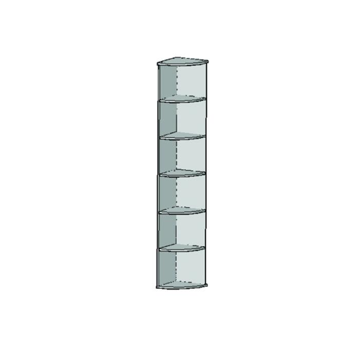 Шкаф открытый угловой «Оскар» с полками - светлый