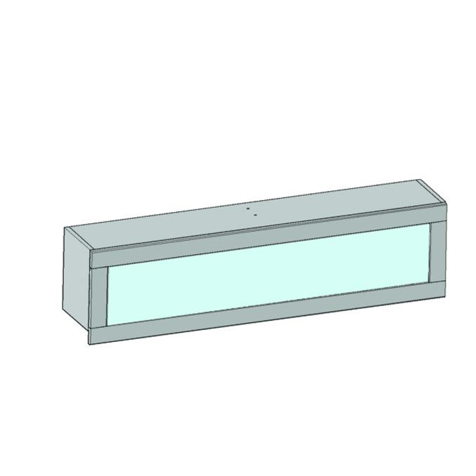 Полка настенная «Оскар» 1VM со стеклом 110 см - светлая