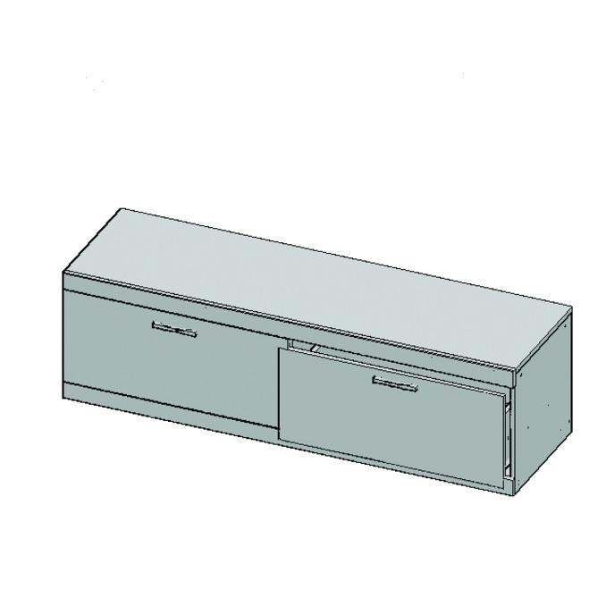 Тумба под телевизор «Оскар» RTV 2S 160 см с ящиками - светлая