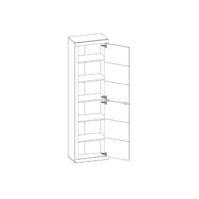 Шкаф-пенал «Оскар» 1DM одностворчатый с полками - светлый