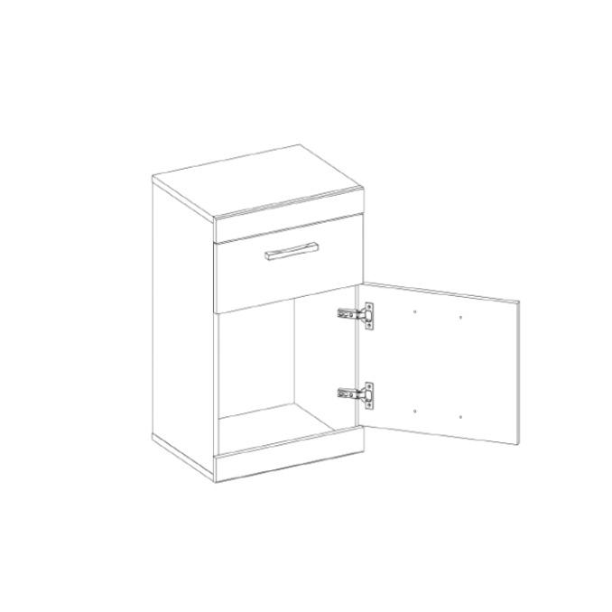 Тумба «Оскар» 1D1S с ящиком - светлая