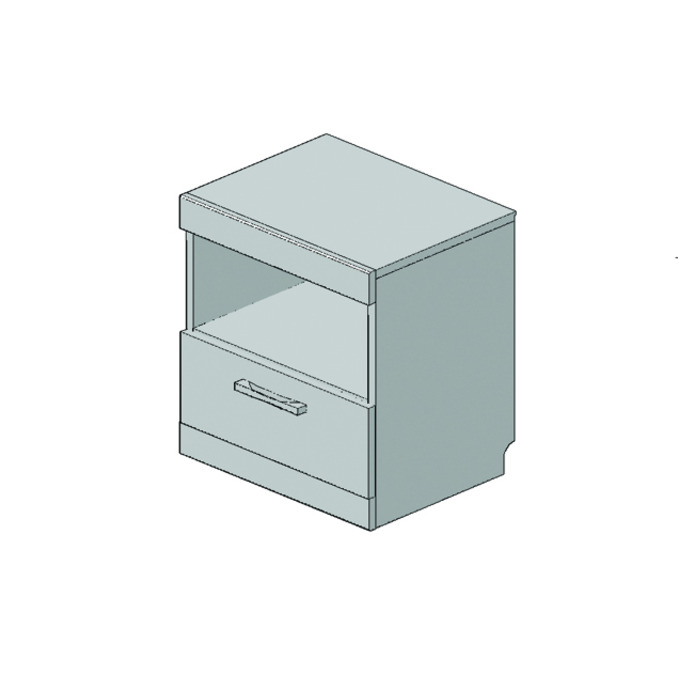 Тумба прикроватная «Оскар» 1S - светлая