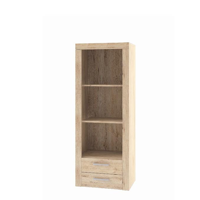 Шкаф открытый «Оскар» 2SL верхний с полками и ящиками - светлый