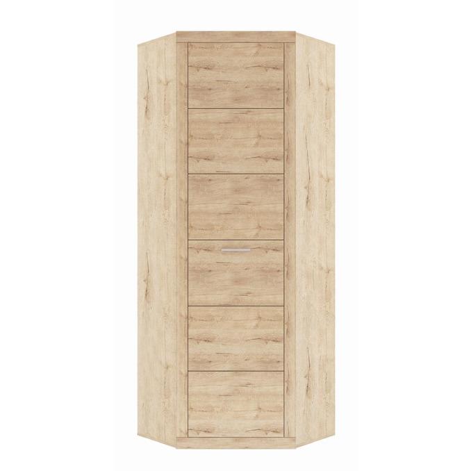 Угловой шкаф «Оскар» с полками L-P - светлый