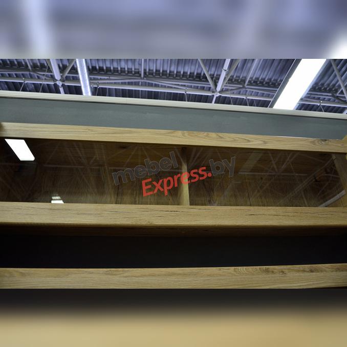 Полка настенная «Оскар» 1V со стеклом 130 см - светлая