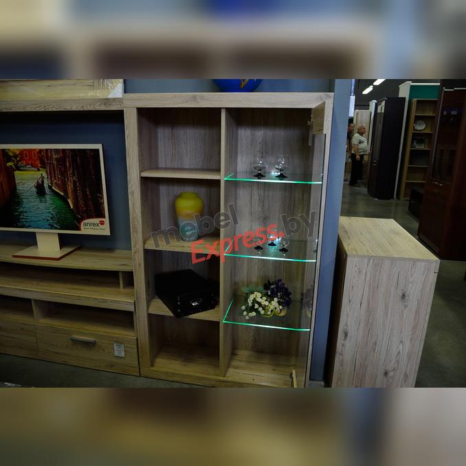 Шкаф комбинированный «Оскар» 1V с витриной - светлый