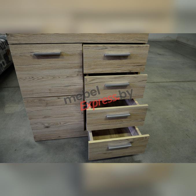 Тумба-комод «Оскар» 1D4S 4 ящика 80 см - светлый