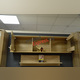 Полка настенная «Остин» застекленная 2D 148 см - сонома светлый