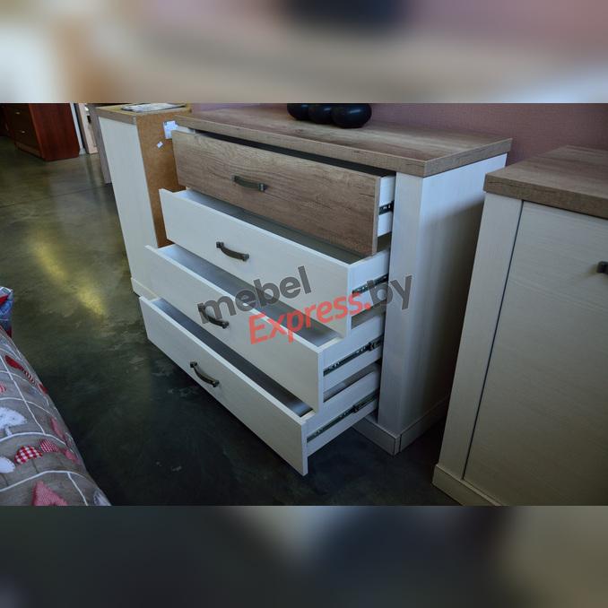 Комод «Прованс» 4S 4 ящика - белый