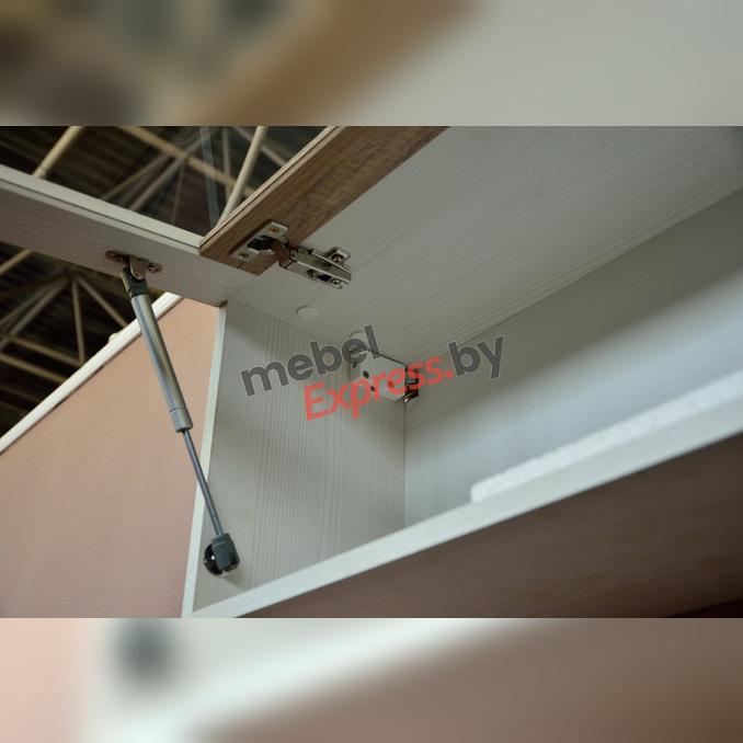 Полка настенная «Прованс» со стеклом 100см 1V - белая