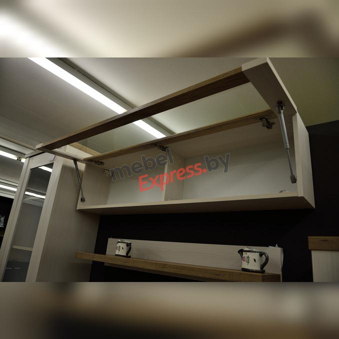 Полка настенная «Прованс» со стеклом  130см 1VB белая