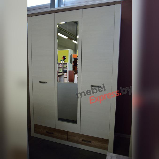 Шкаф трехстворчатый «Прованс» 3DG2S Z с зеркалом - белый