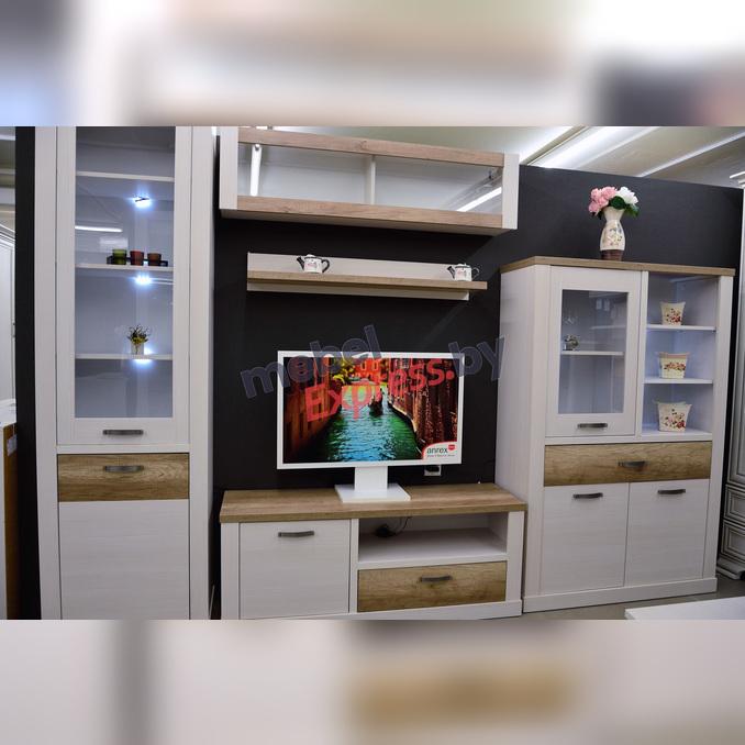 Стенка-горка гостиная «Прованс» 2 - белая