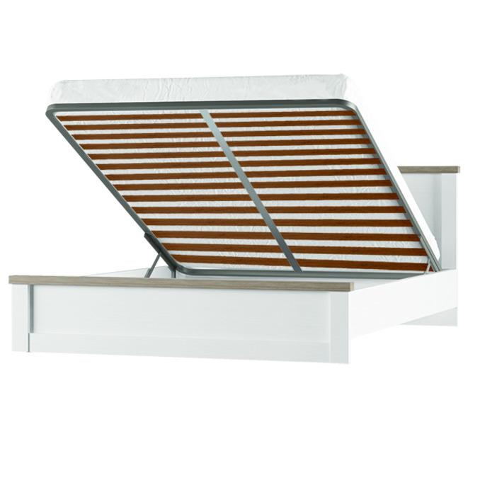 Кровать полуторная «Прованс» 140 с подъемником - белая