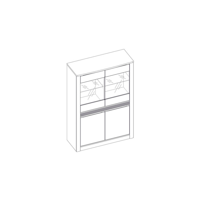 Шкаф с витриной «Ричи» 2V2D