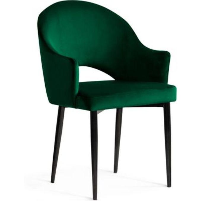 Стул «Амбер» зеленый/черный