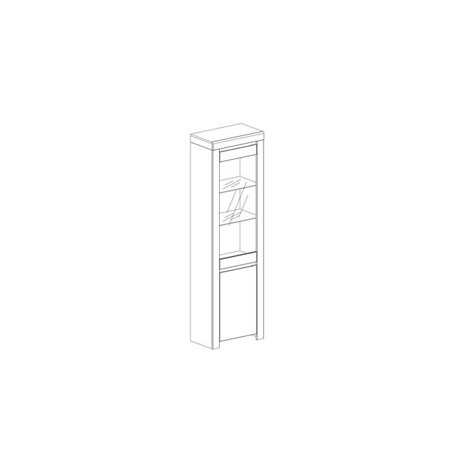 Шкаф с витриной «Таурус» 1V1D