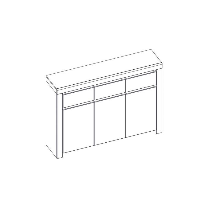 Тумба-комод «Таурус» 3D3S