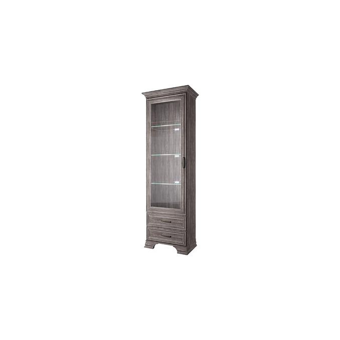 Шкаф «Тиффани» с витриной  1V2S - орех элия темный