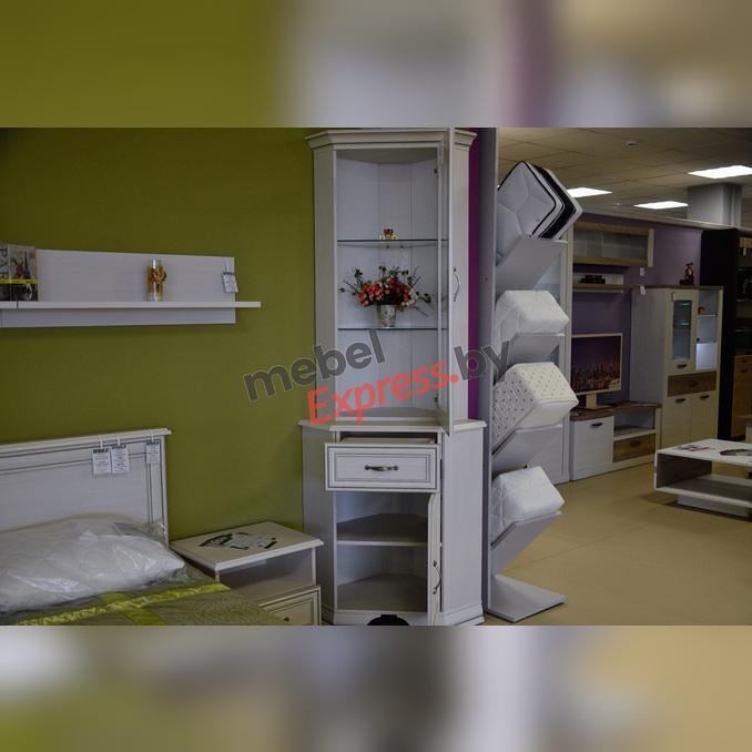 Шкаф-витрина «Тиффани» 1VU угловой белый