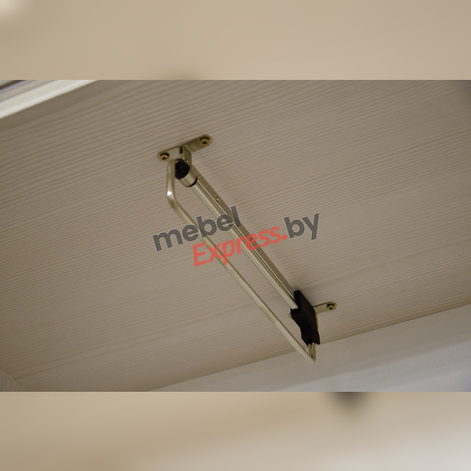 Шкаф-пенал «Тиффани» с зеркалом 1Z2S - белый
