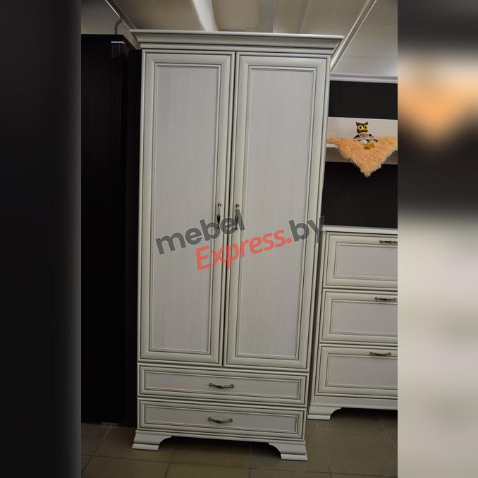 Шкаф «Тиффани» 2DG2S двухстворчатый белый