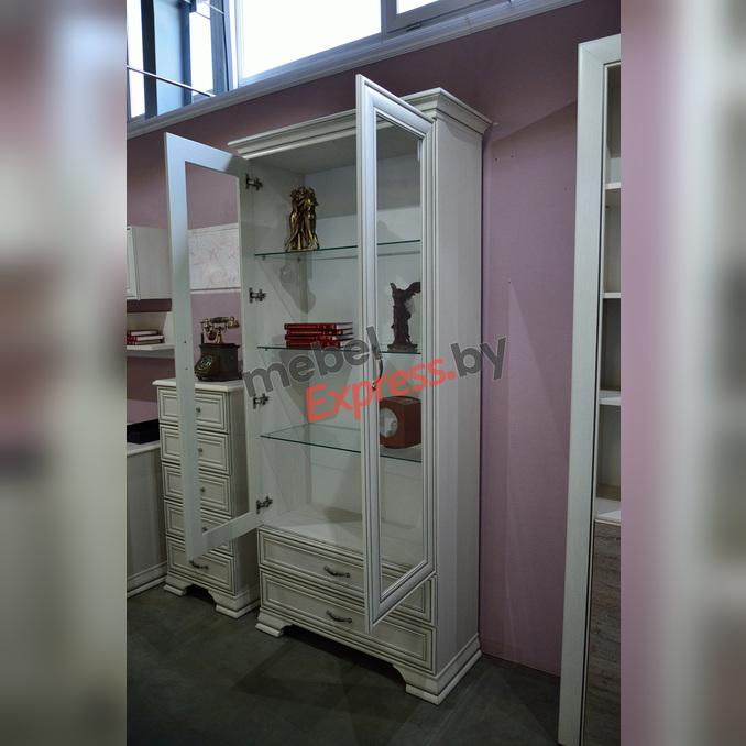 Шкаф-витрина «Тиффани» 2V2S белый