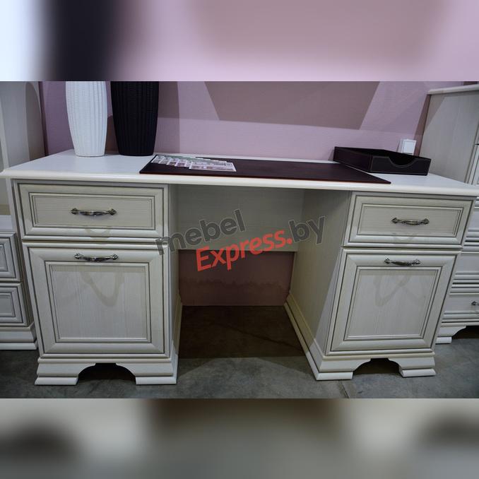 Стол письменный «Тиффани» двухтумбовый белый