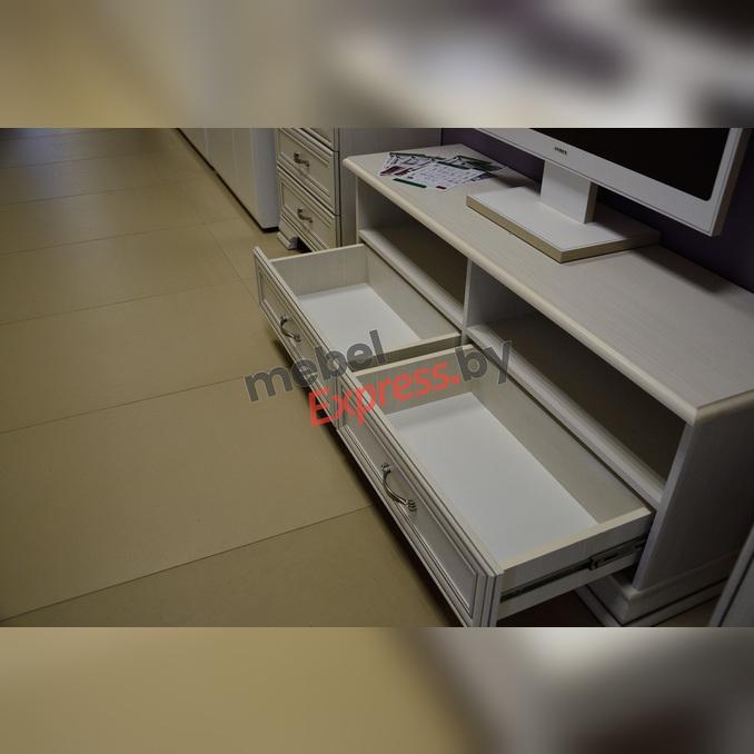 Тумба «Тиффани» RTV 2S2N под телевизор белая