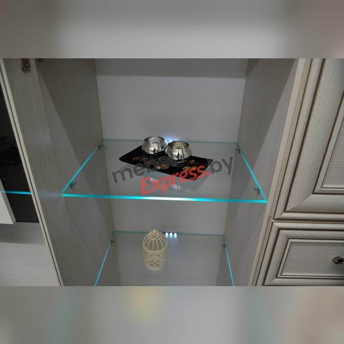 Тумба-витрина «Тиффани» 1V2D1S - белая