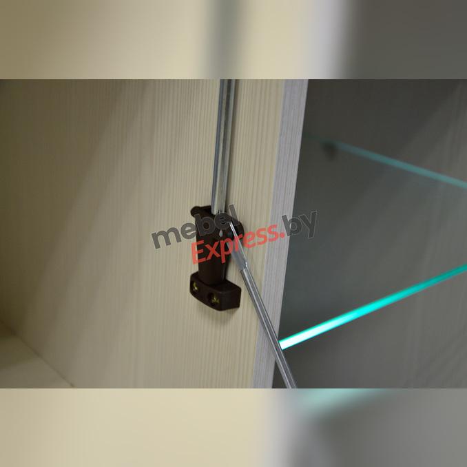 Тумба-витрина «Тиффани» 2V1D3S белая