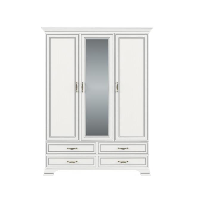 Шкаф «Тиффани» 3D4S Z трехстворчатый с зеркалом белый