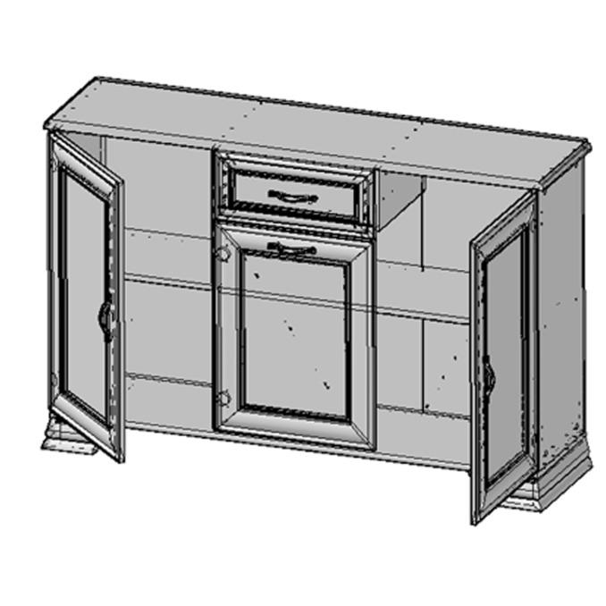 Тумба-комод «Тиффани» 3D1S - белая