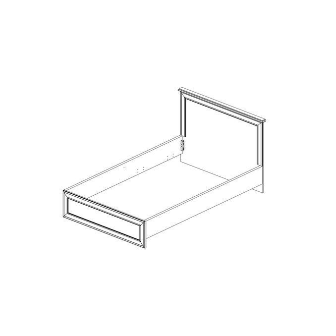 Кровать «Тиффани» односпальная 90 - белая
