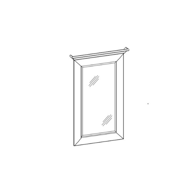 Зеркало «Тиффани» настенное 50 см белое