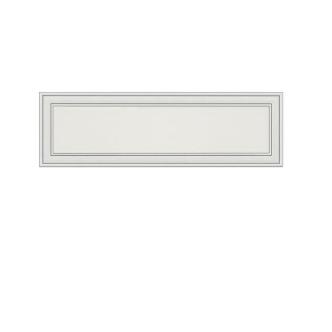 Полка «Тиффани» 1D навесная закрытая 130см - белая