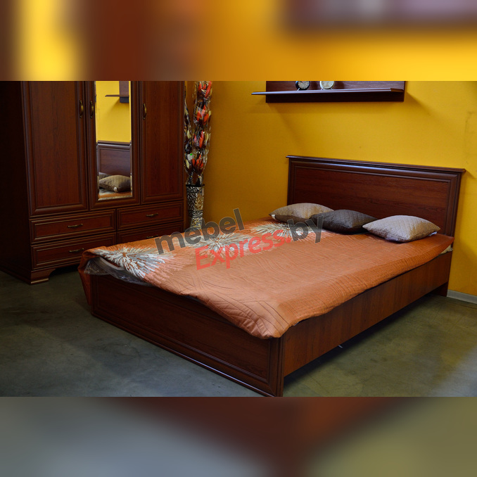 Кровать «Тиффани» полуторная 140 с подъемником - каштан