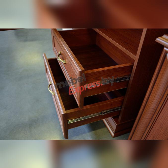 Шкаф «Тиффани» с витриной  1V2S - каштан
