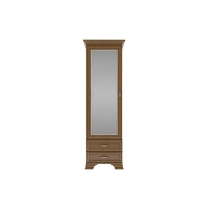 Шкаф-пенал «Тиффани» с зеркалом 1Z2S - каштан