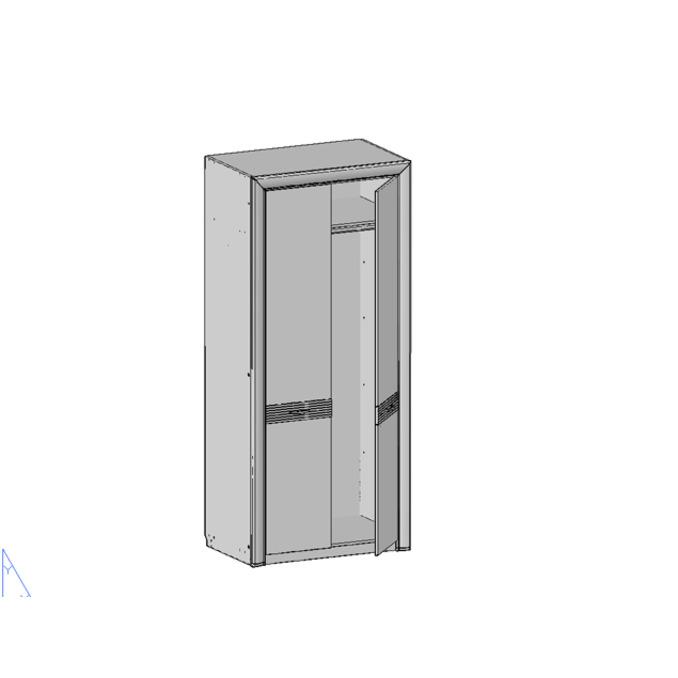 Шкаф «Вена» двухстворчатый платяной 2DG - орех