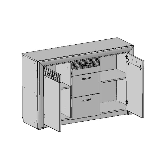 Тумба-комод «Вена» 2D3S 3 ящика - орех